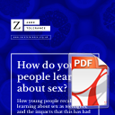 Research Report: How do young people learn about sex?