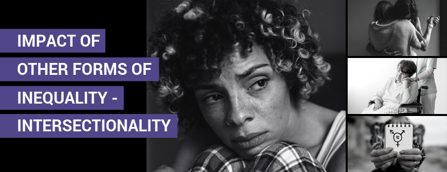 The impact of other forms of inequality – intersectionality